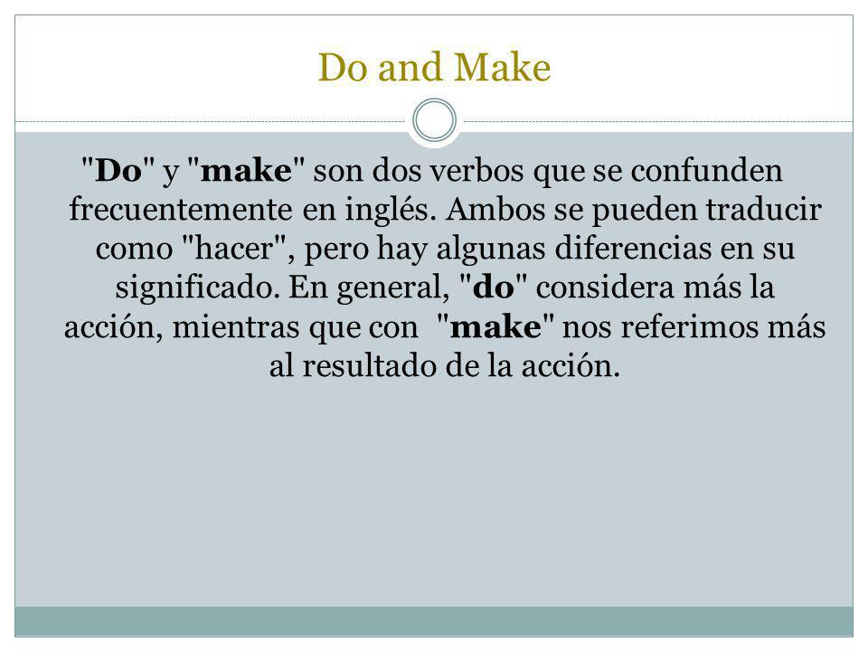Do and Make
