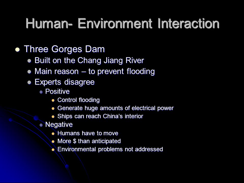 Human- Environment Interaction