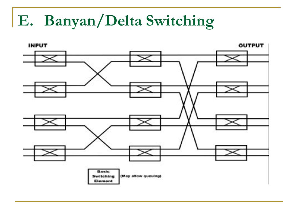 Banyan/Delta Switching