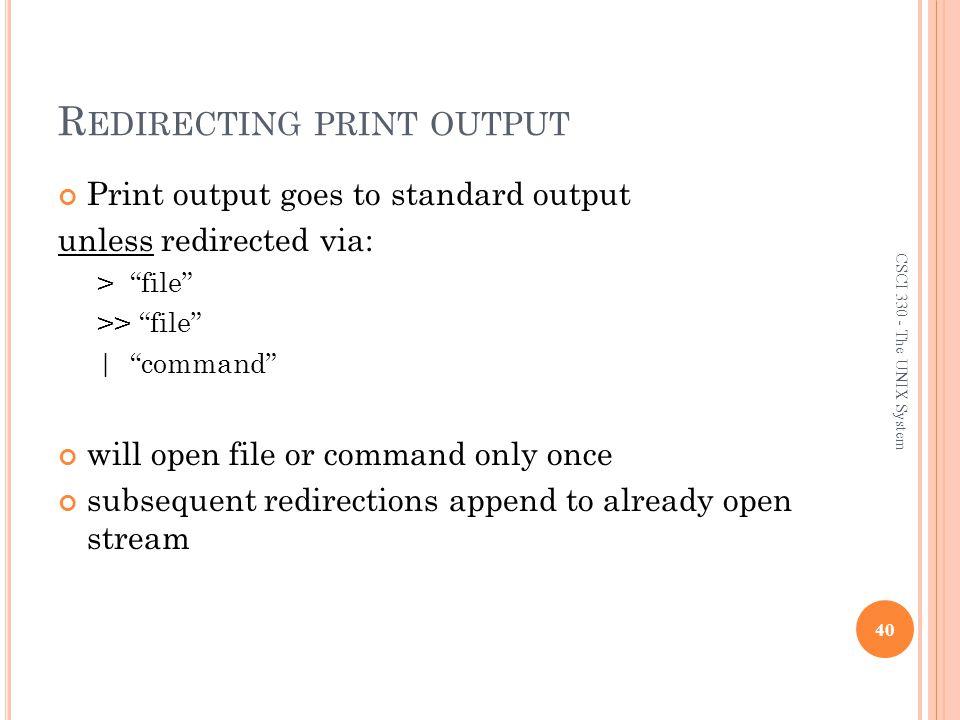 Redirecting print output