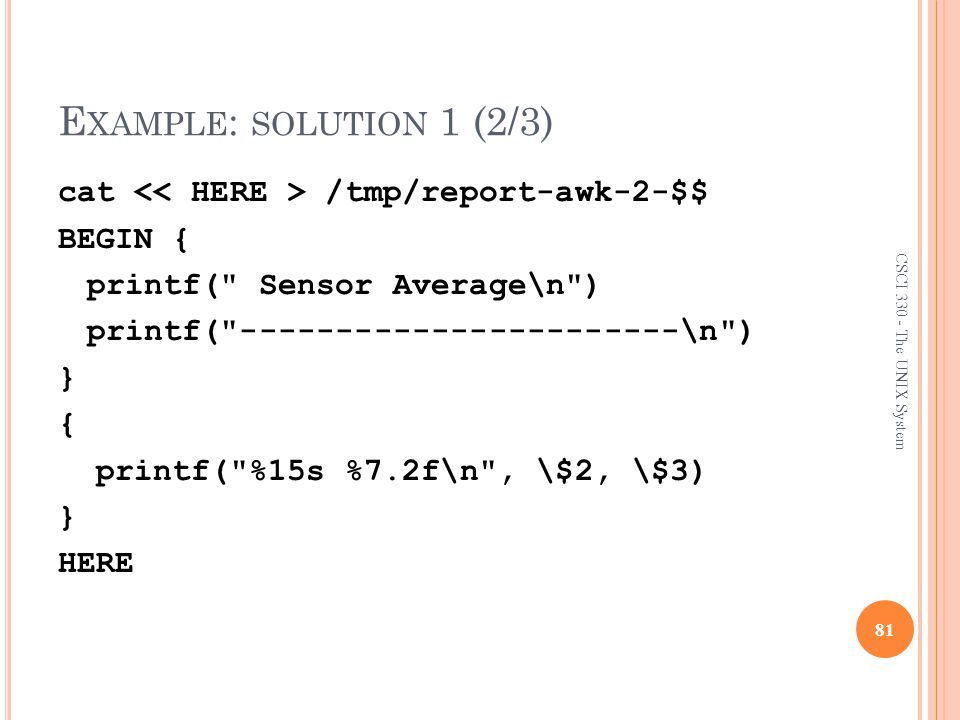 Example: solution 1 (2/3)