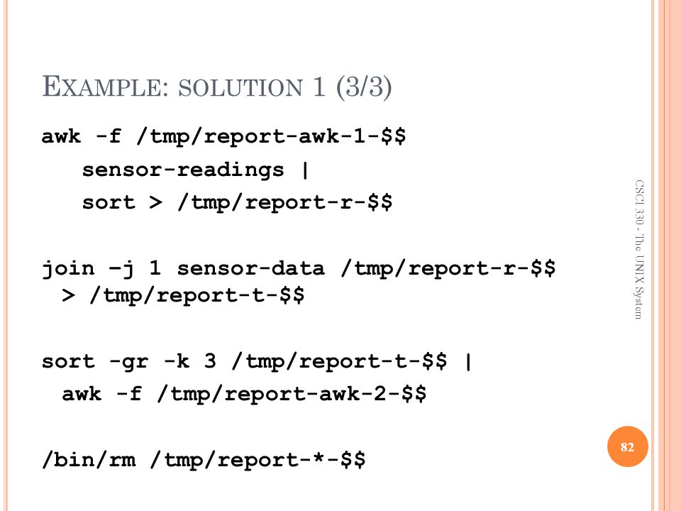 Example: solution 1 (3/3)