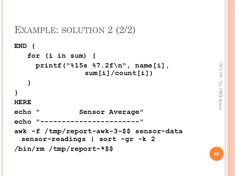 Example: solution 2 (2/2)
