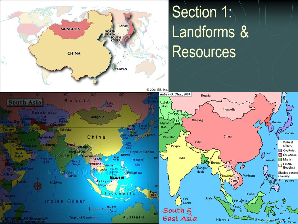 Section 1: Landforms & Resources