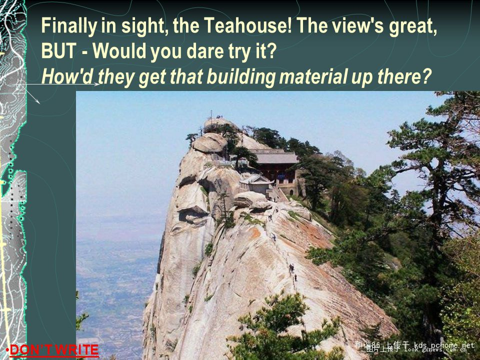 Finally in sight, the Teahouse