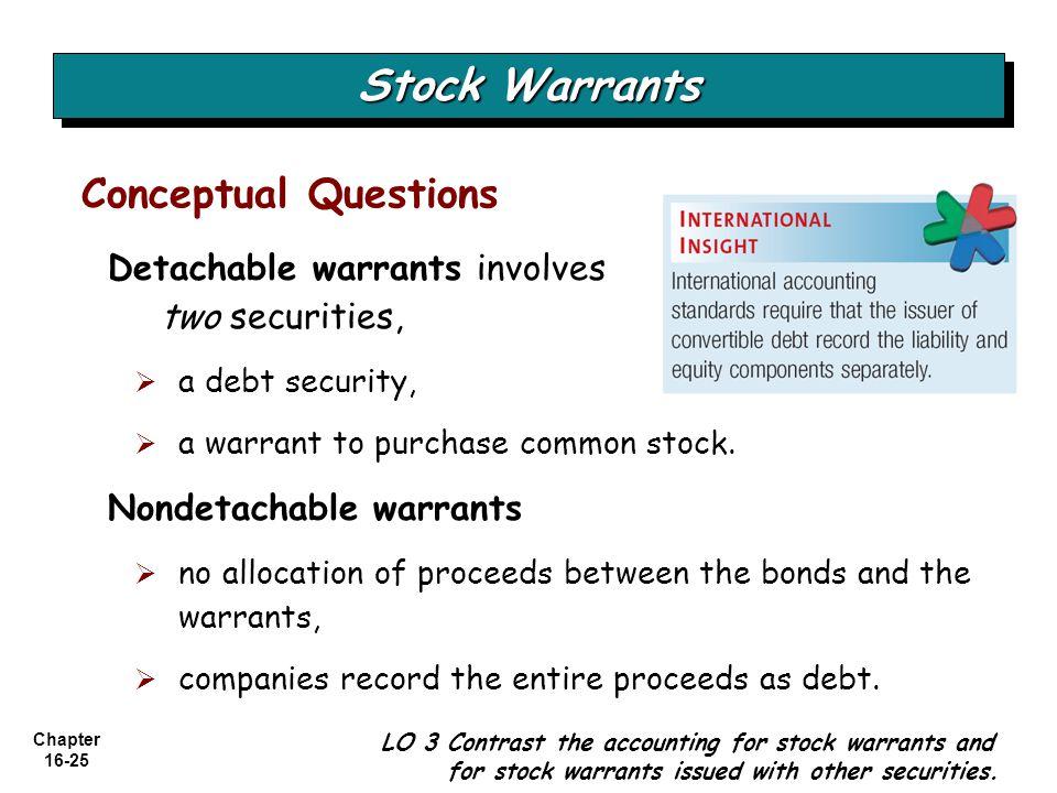 Stock Warrants Conceptual Questions