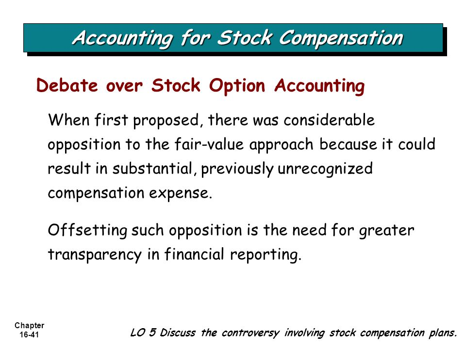 Accounting for Stock Compensation