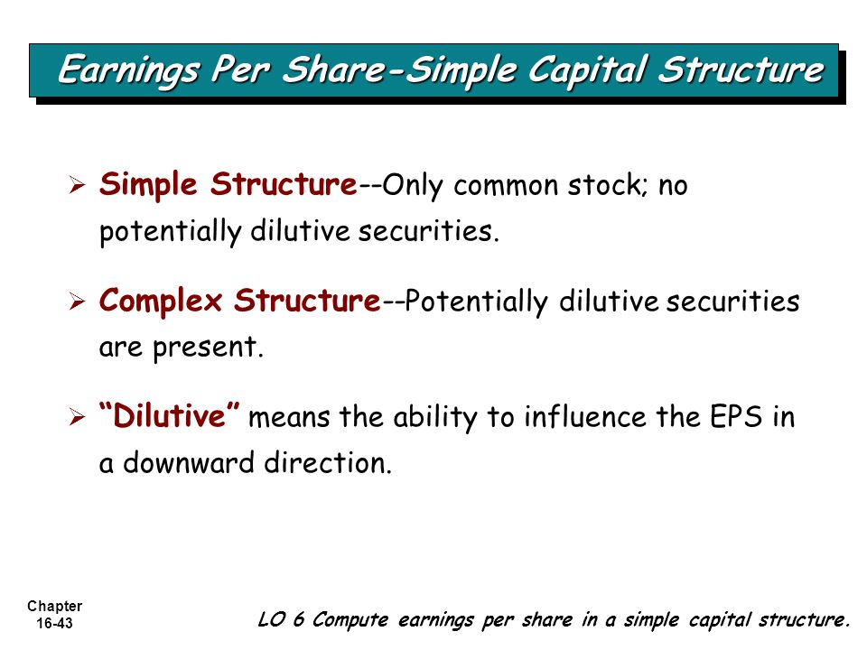 Earnings Per Share-Simple Capital Structure