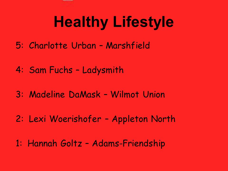 Healthy Lifestyle 5: Charlotte Urban – Marshfield