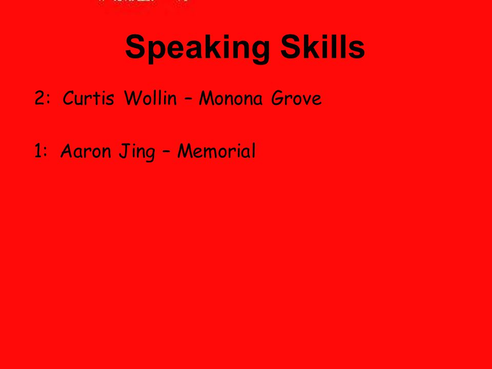 Speaking Skills 2: Curtis Wollin – Monona Grove