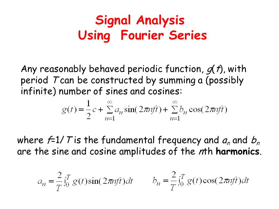Signal Analysis Using Fourier Series