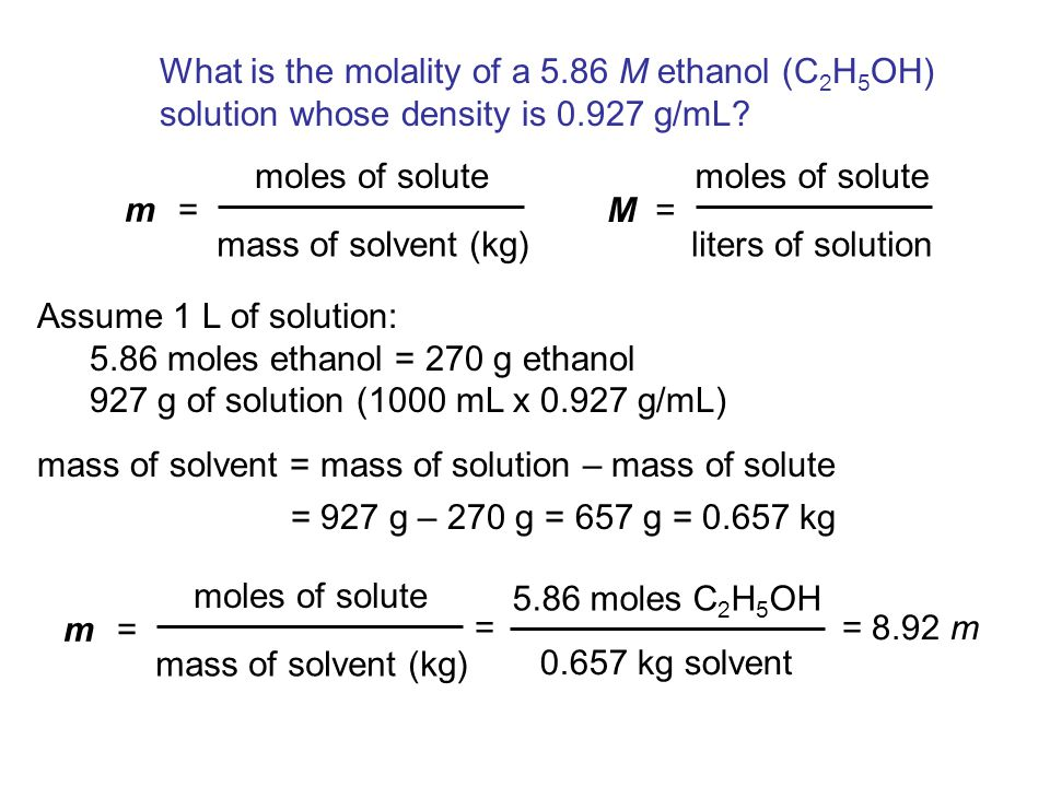 What is the molality of a 5