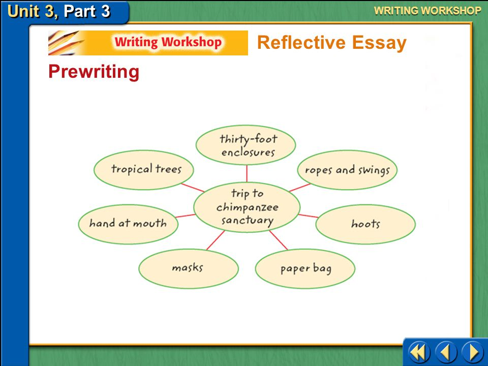 WRITING WORKSHOP Reflective Essay Prewriting Writing Workshop