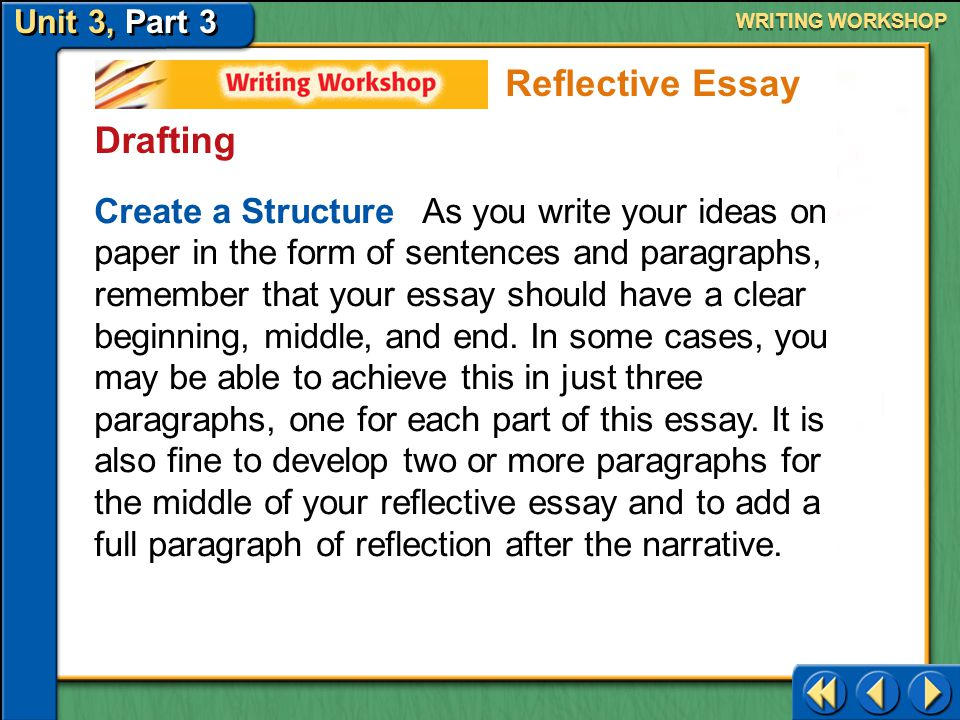 Reflective Essay Drafting