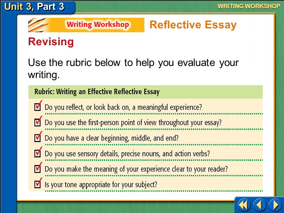 Reflective Essay Revising