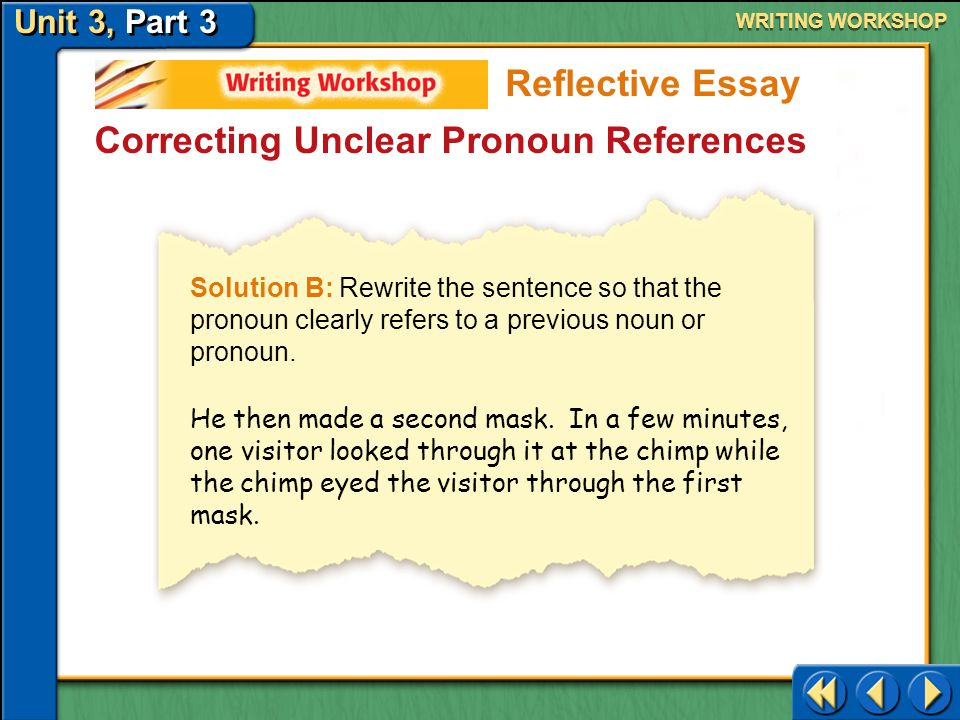 Correcting Unclear Pronoun References