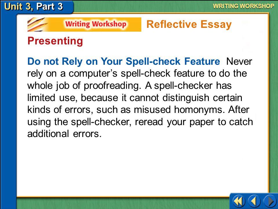 Reflective Essay Presenting