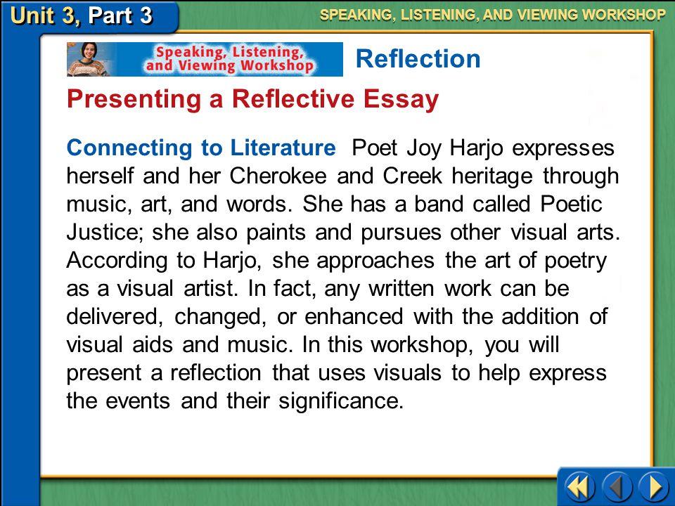 Presenting a Reflective Essay