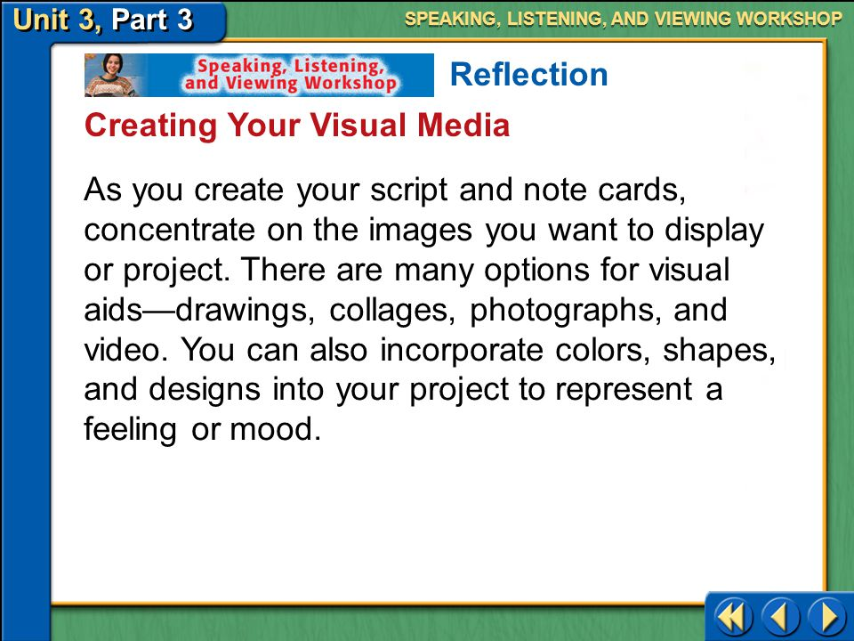 Creating Your Visual Media