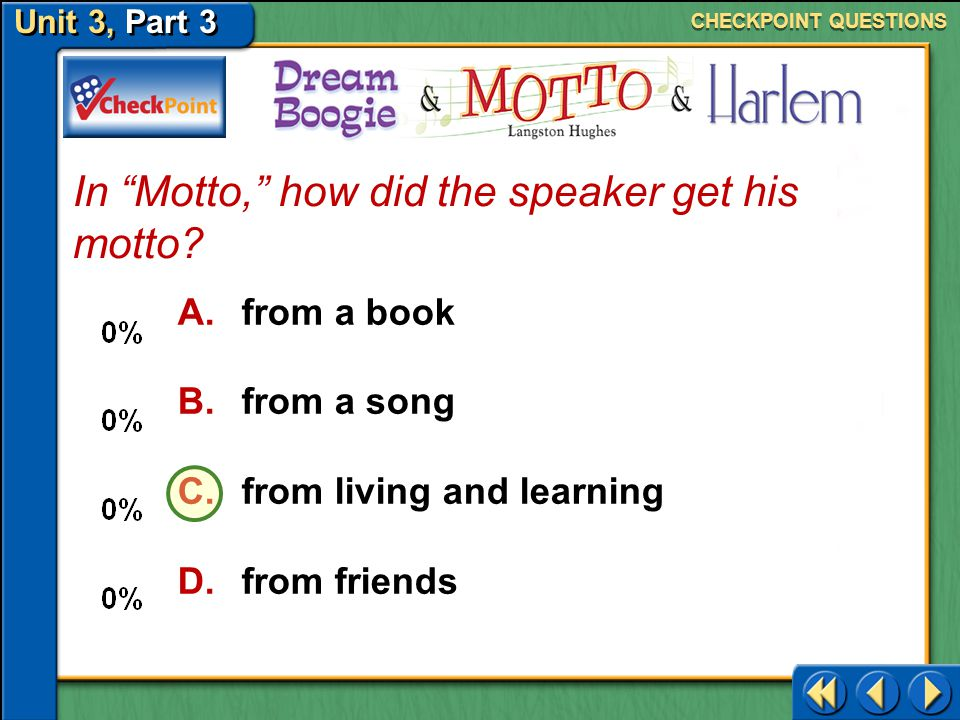 In Motto, how did the speaker get his motto