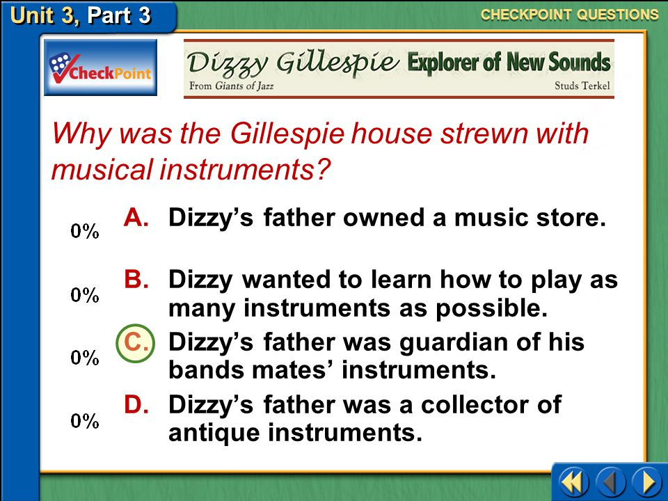Why was the Gillespie house strewn with musical instruments
