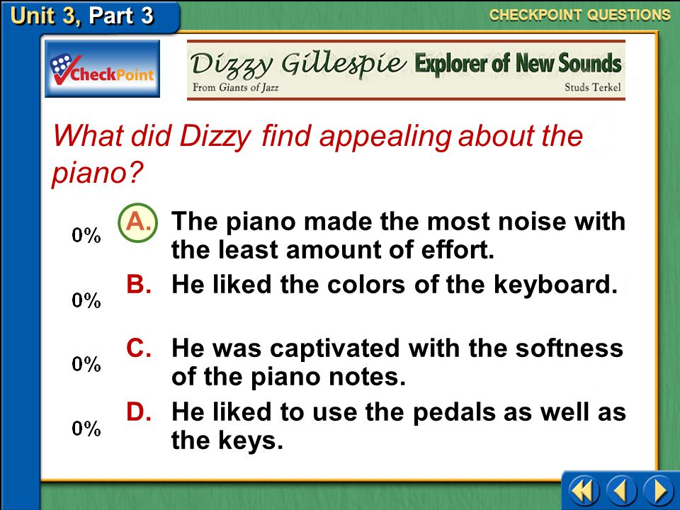 What did Dizzy find appealing about the piano