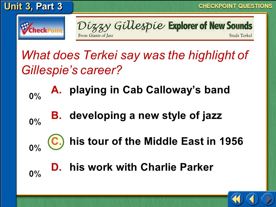 What does Terkei say was the highlight of Gillespie's career