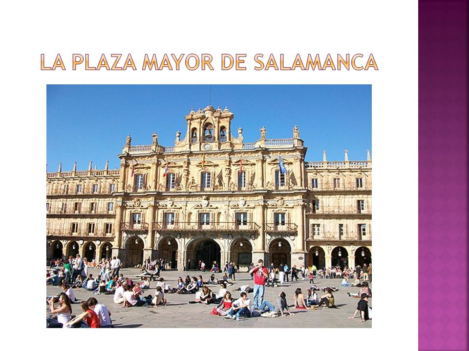 La plaza mayor de salamanca