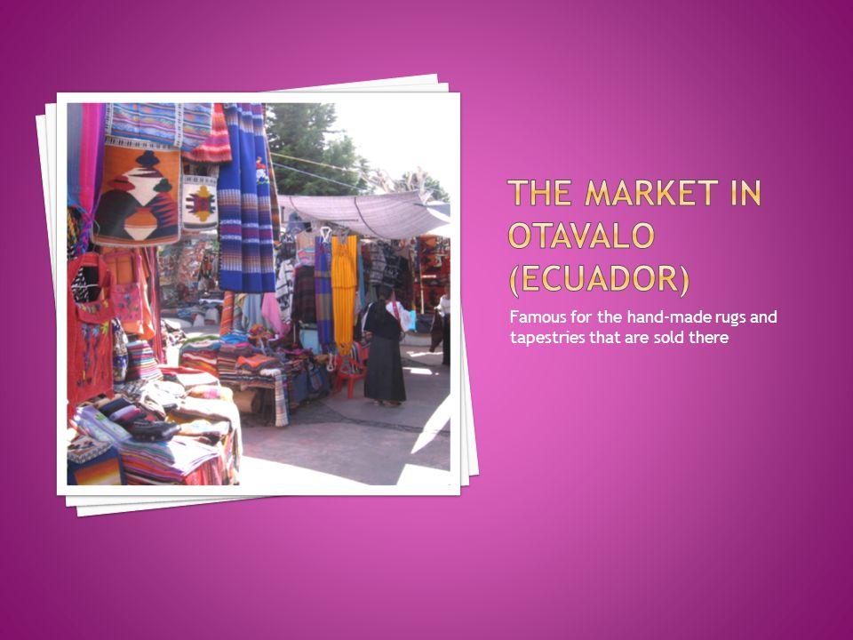 The market in otavalo (ecuador)