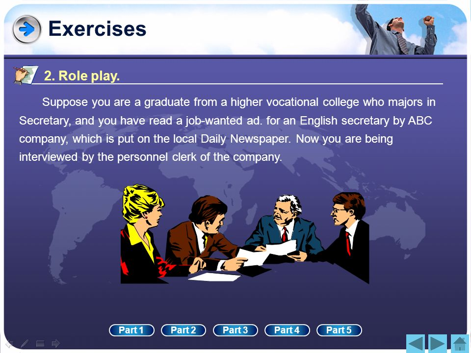 Exercises2. Role play.