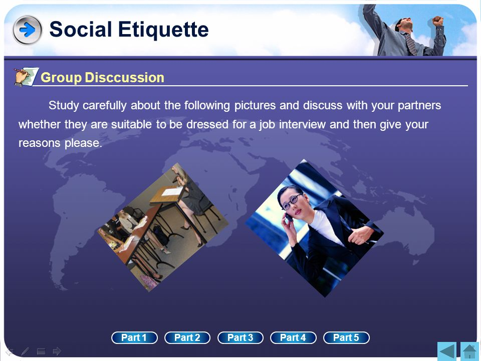 Social Etiquette Group Disccussion