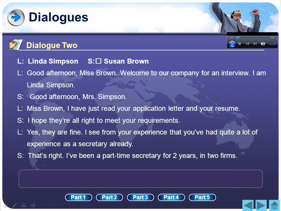 Dialogues Dialogue Two L: Linda Simpson S: Susan Brown