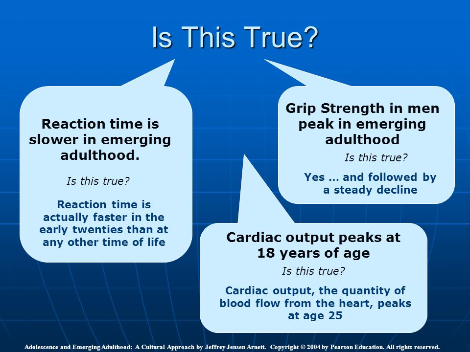 Is This True Grip Strength in men peak in emerging adulthood