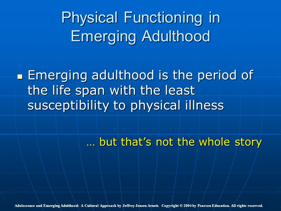 Physical Functioning in Emerging Adulthood