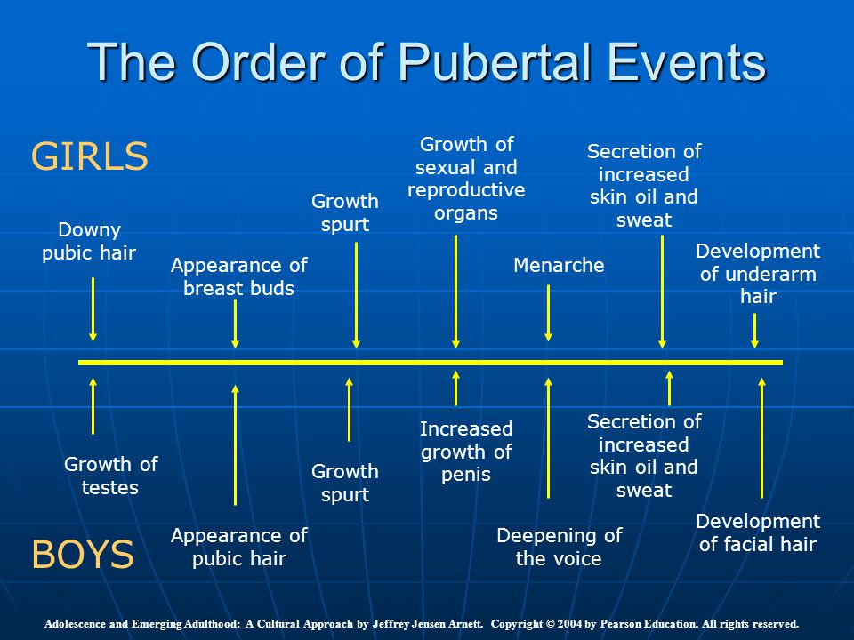 The Order of Pubertal Events
