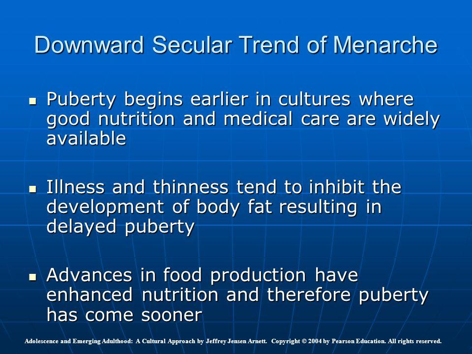 Downward Secular Trend of Menarche