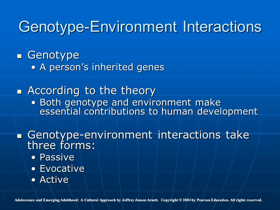 Genotype-Environment Interactions