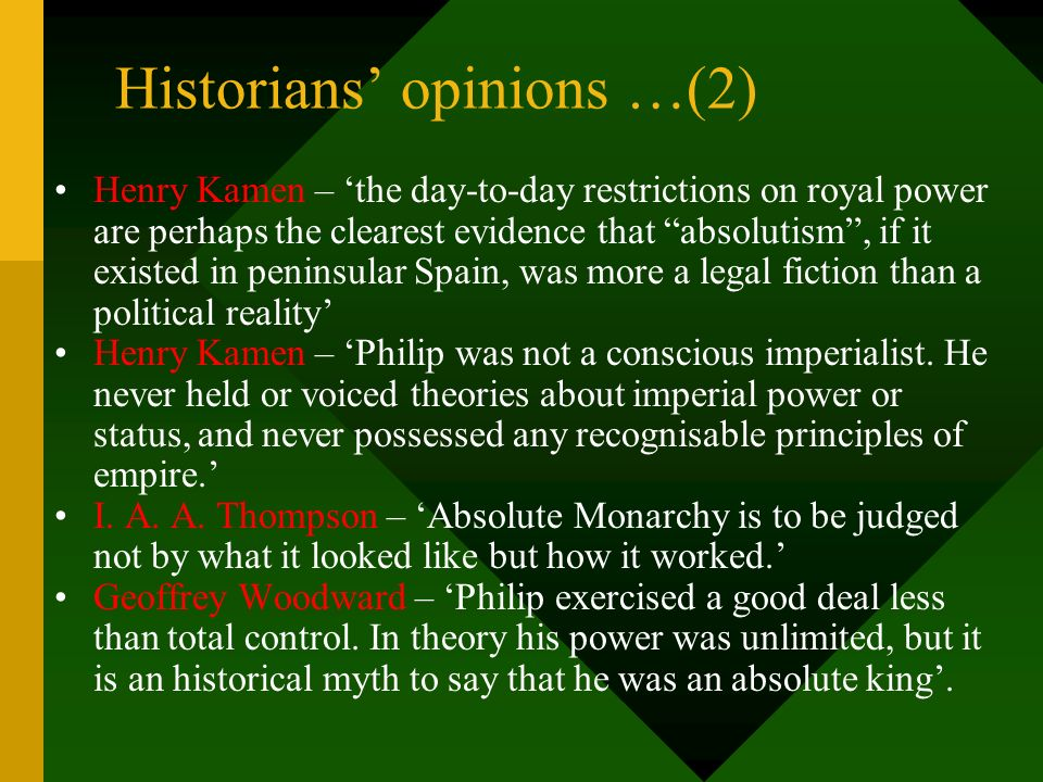 Historians' opinions …(2)