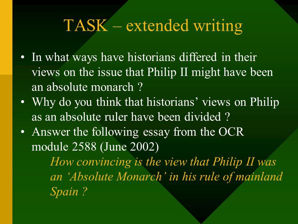 TASK – extended writing