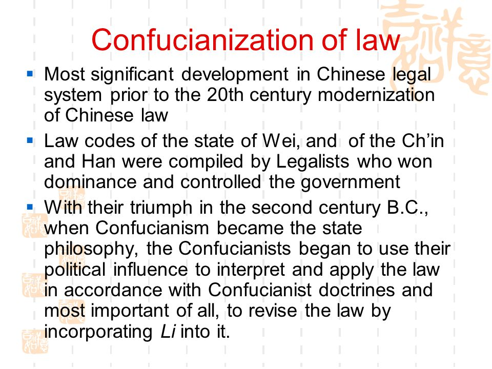 Confucianization of law