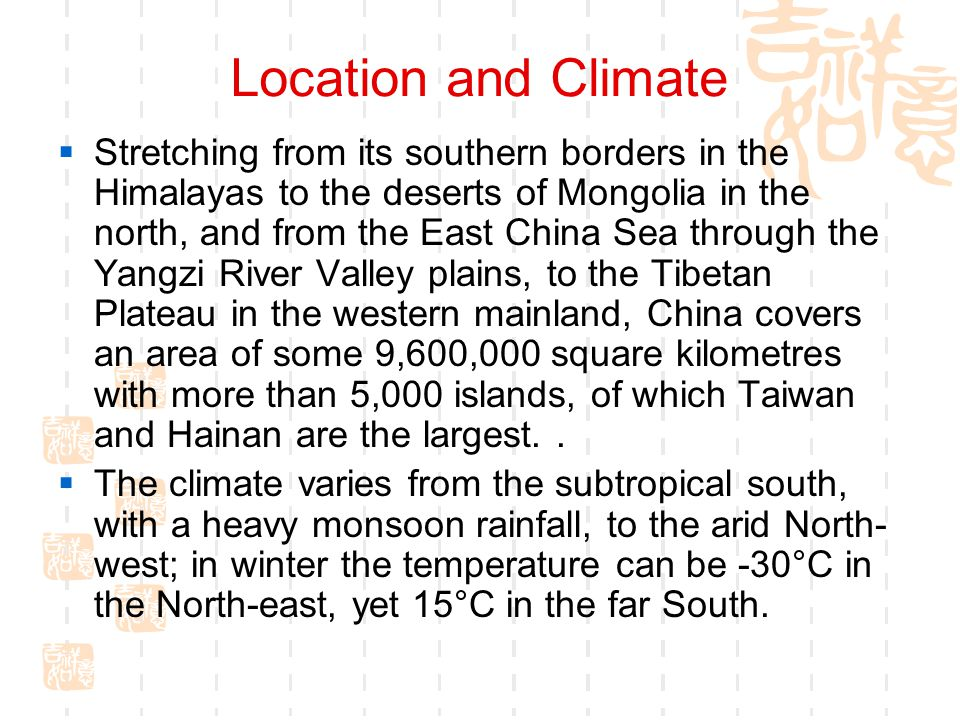Location and Climate