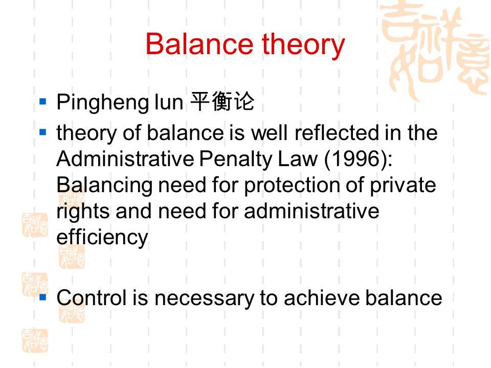 Balance theory Pingheng lun 平衡论