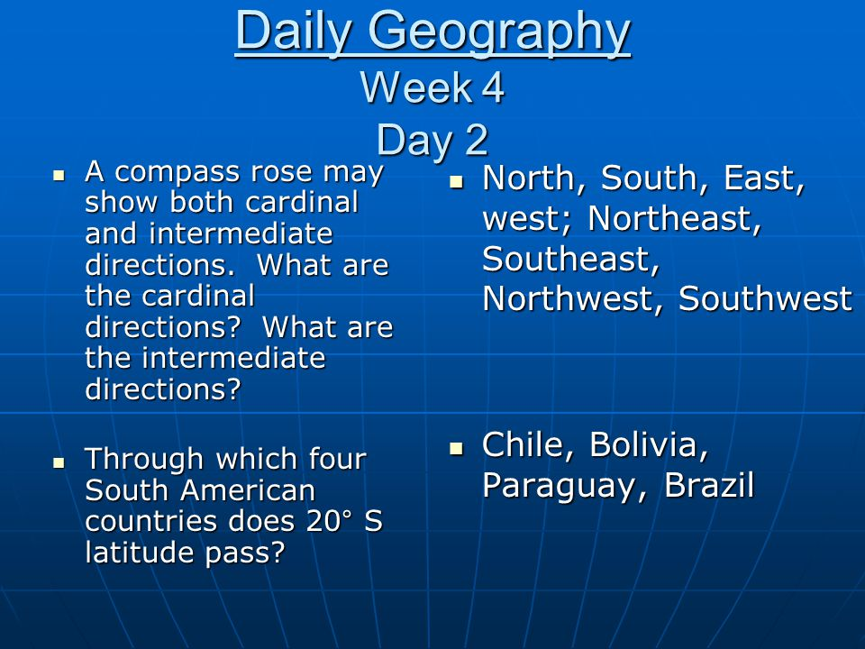 Daily Geography Week 4 Day 2