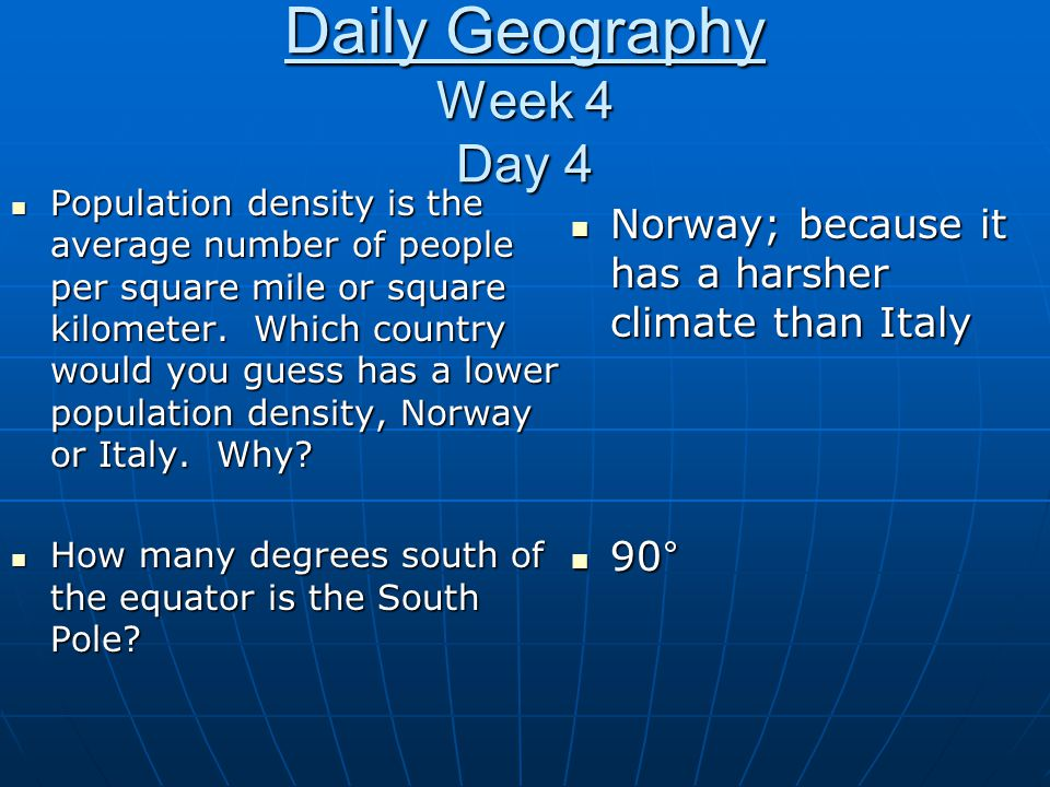 Daily Geography Week 4 Day 4