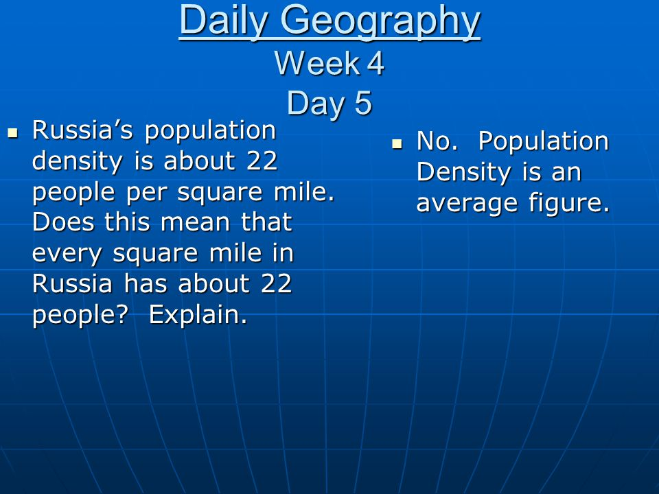 Daily Geography Week 4 Day 5