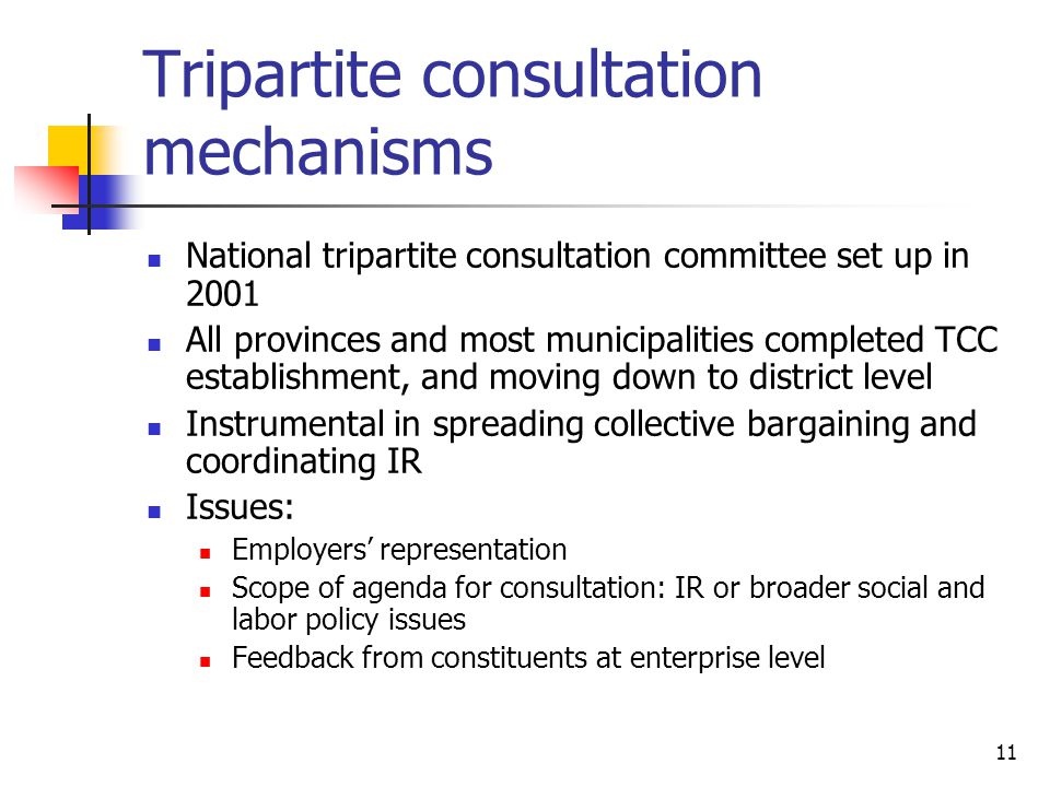 Tripartite consultation mechanisms