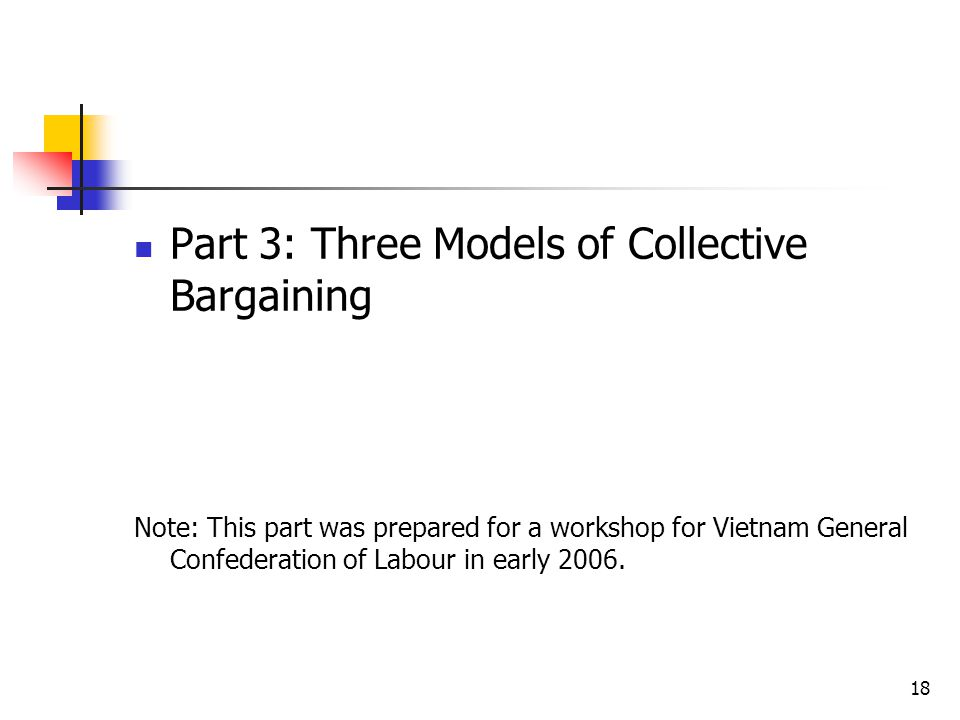 Part 3: Three Models of Collective Bargaining