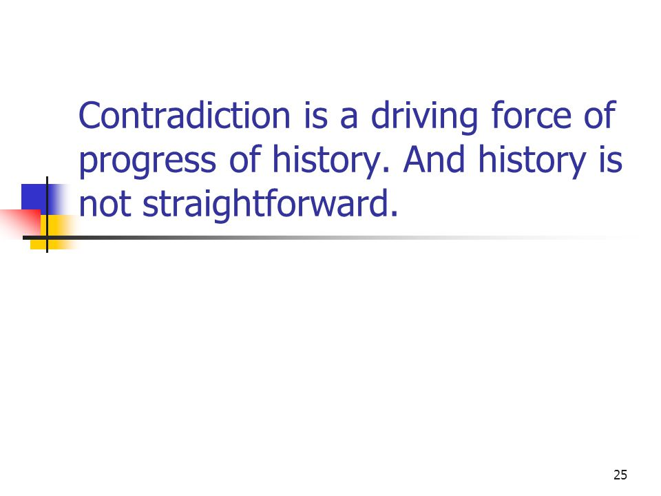 Contradiction is a driving force of progress of history