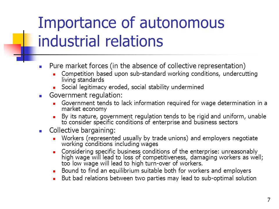 Importance of autonomous industrial relations