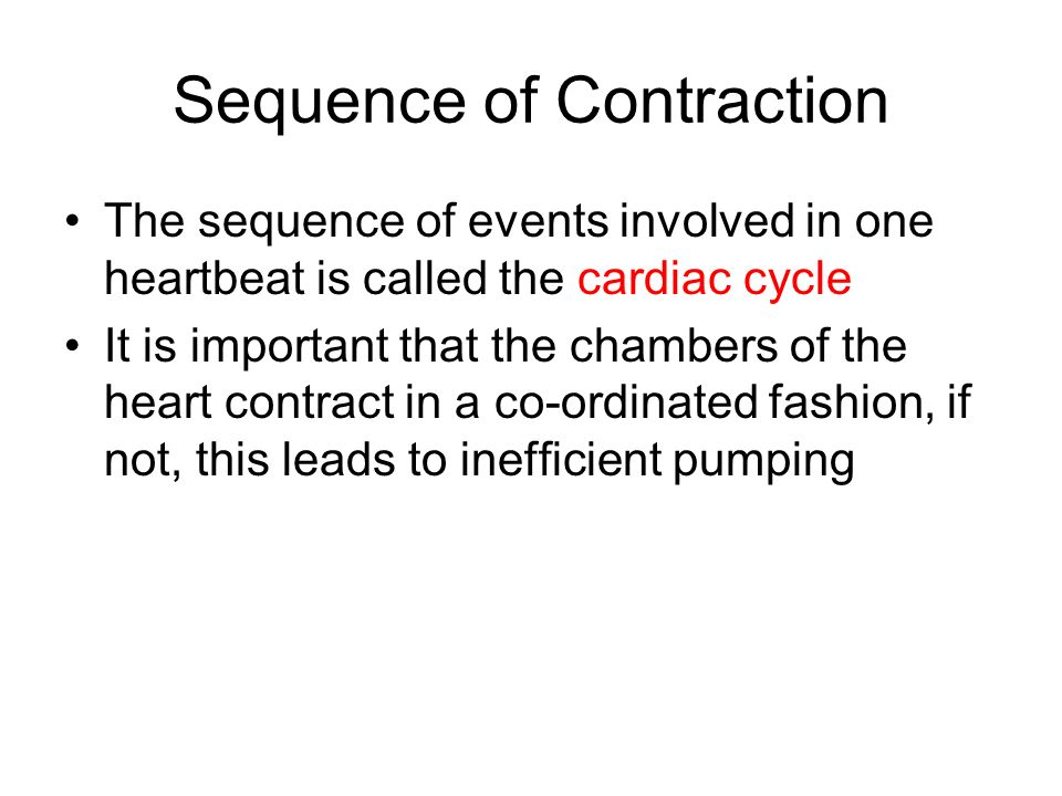 Sequence of Contraction